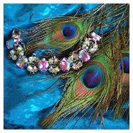 Juliana D & E Vitrail Medium Rhinestone Bracelet  Peacock Colors