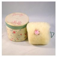 Beauty Muff Vintage Lambswool Puff with Original Box