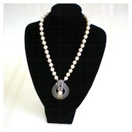 Richelieu Cultured Pearl and Marcasite Necklace