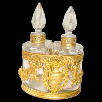 Napoleon III Doré Baccarat Scent Bottle Caddy
