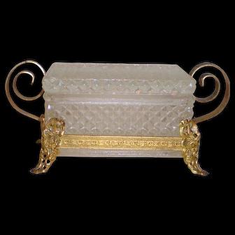 Petite Gilt and Glass Trinket Box