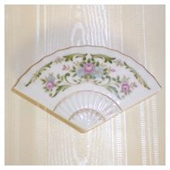 Fan Shaped Vintage Porcelain Trinket Box
