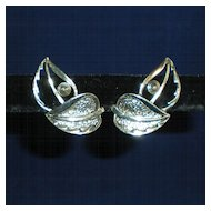 Sarah Coventry Leaf Clip-On Earrings from the 1960s
