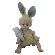 Rare1950 Ginny Easter Bunny Crib Crowd!