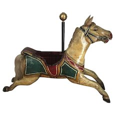 . Antique English carousel horse circa 18 90–19 30 Kitty Size Jumper!