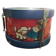 Cute Little Antique Metal Drum 1950's