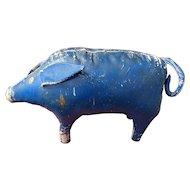 "16"" Primitive 1900 Stuffed Canvas Pig! Rare!"