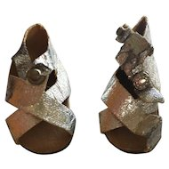 Mary Hoyer Silver Sandals!