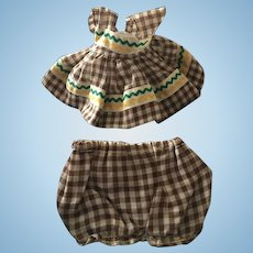1953  Vogue Ginny Brown checked Outfit! Tagged!