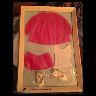 Never Opened: Sasha  Complete Vintage Outfit! Red Dress!