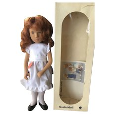 "16"" Sasha Redhead  White Dress Mint in Box!"