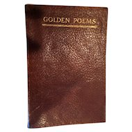 1916 Golden Poems by British and American Authors edited by Francis Fisher Browne