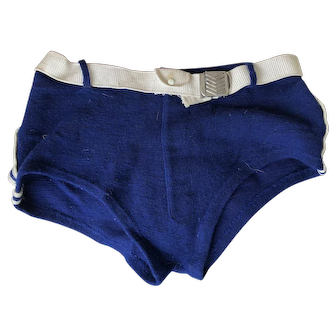 1920 men's All wool Navy Swimsuit by Prudential