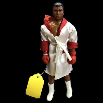 1975  Muhammad Ali Mego Doll and Cards and Hallmark Orament
