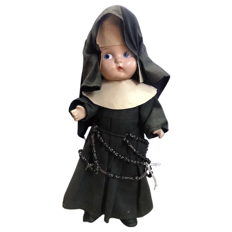 """Nun 10"""" Patsy Doll Dressed By the Nuns! 1930"""