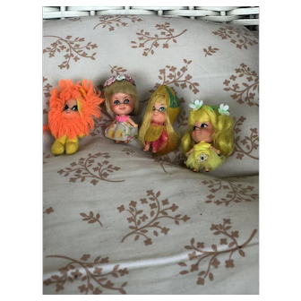 4 Little Kiddles! Even the Lion!! Mattel !