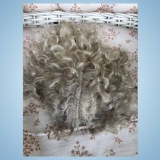 Fine 19th Century Hand Tied French Wig! Mohair!