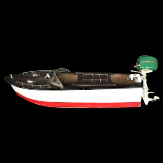 "14"" Vintage Electric Wood Boat Nd Motor! 1940's"
