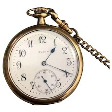 Elgin  Gold Plated Smaller Pocket Watch circa: 1900