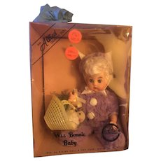 Never played with 1963 Wee Bonnie Baby Easter Bunny Doll Mib! You