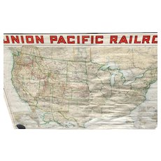 Union Pacific Railroad Rand McNally Map 40x62