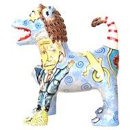Tatooed Lion-Dog by Stacy Lambert