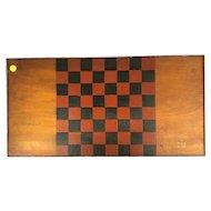 Wooden Handmade Checker Board (19th Century)