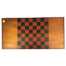 Wooden Handmade Checker Board (19th Century)
