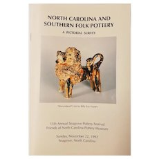 "Book entitled ""North Carolina and Southern Folk Pottery"""