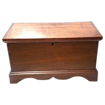 Miniature Walnut Blanket Chest