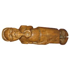 Folk Art Carved Black Man Figure