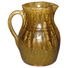 John Meaders Alkaline Glaze Pitcher. Georgia