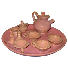 Miniature Pottery Tea Set bu Cole Pottery Seagrove, NC