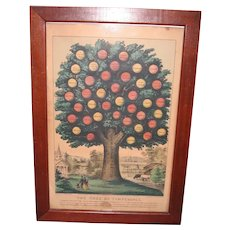Original Tree of Temperance by Currier & Ives