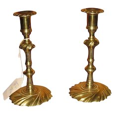 19th Century Brass Candlesticks