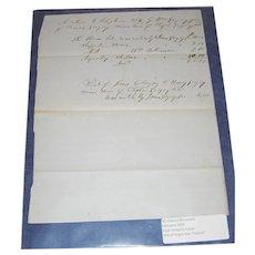 North Carolina Slavery Document 1854