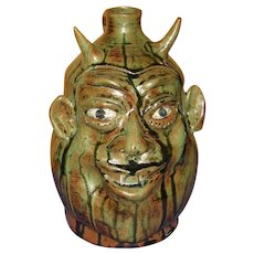 Southern Pottery Face Jug Marvin Bailey