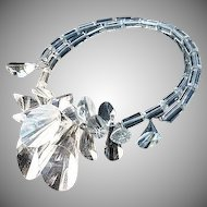 Lucite Runway Faceted Bold Mid Century Necklace