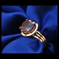Cr 1918/19 Egyptian Revival 18K Gold Ring Full Marks