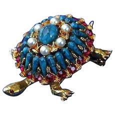 HAR Turtle Tortoise Brooch Pin Fun & Fab