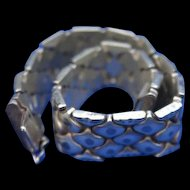 Reptile Style Lush Sterling Silver Bracelet Italy