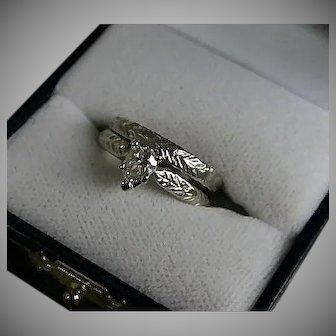 Platinum 70's Diamond Solitaire Engagement  .70 TCW Lovely