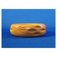 Carved Butterscotch Bakelite Bangle