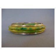 Marbled Green/Yellow Bakelite Bangles