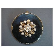"""MING of Honolulu""Jade- Pearl -14K-Pin/Pendant"