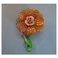 '40's Lucite Flower Pin