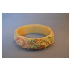 '30s Celluloid Floral Bangle