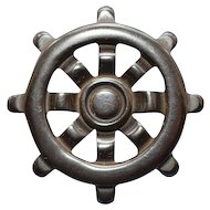 Nautical - Ship's Wheel Pin - Bakelite