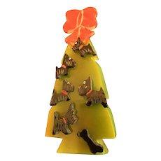 Scottie Dog Christmas Tree Pin