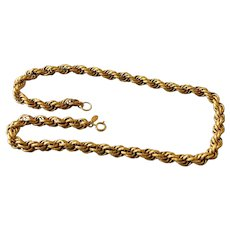 Miriam Haskell Twisted Rope Chain